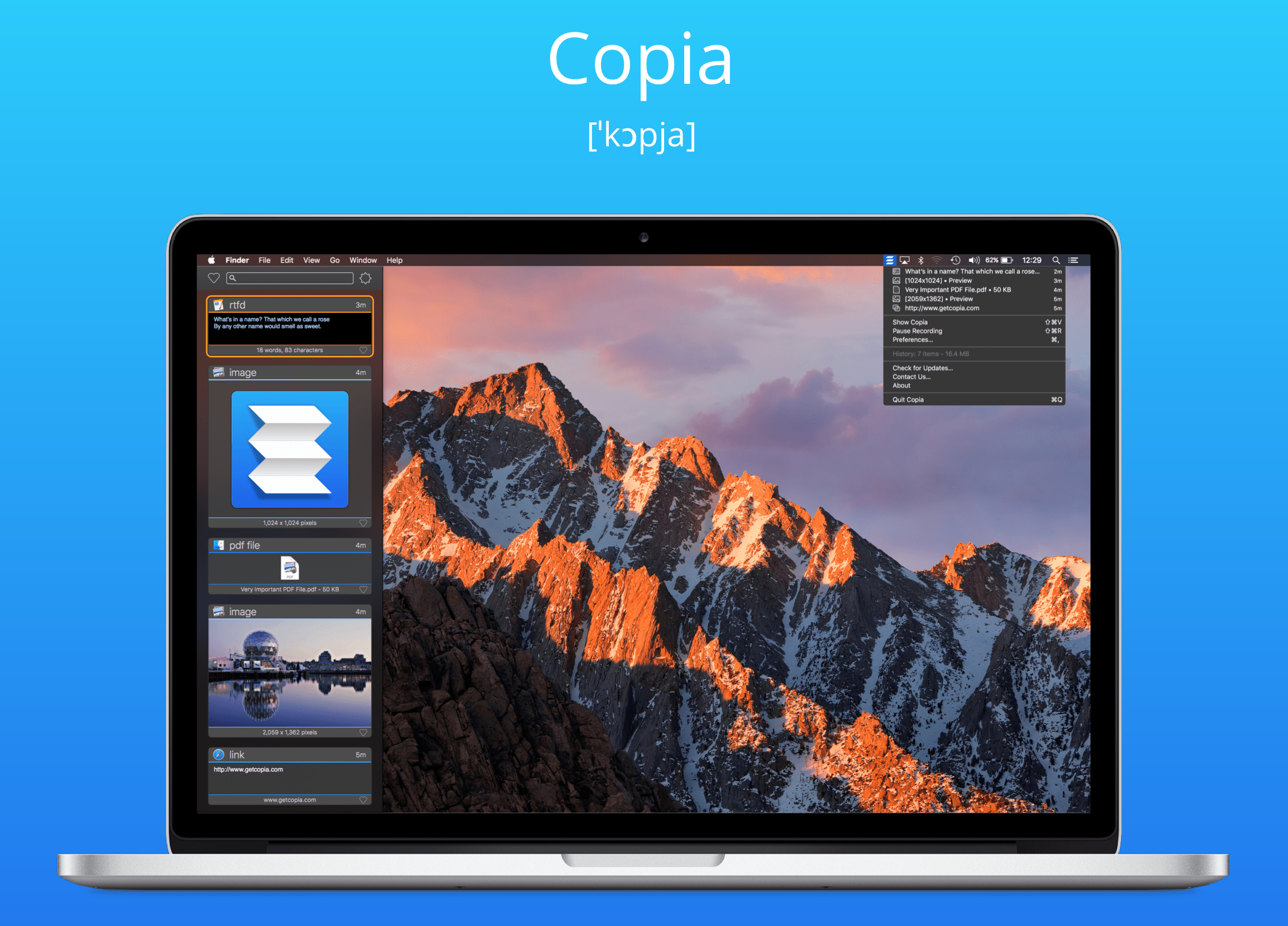 Copia Clipboard Manager for Mac